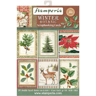 Stamperia Card Block Winter Botanic