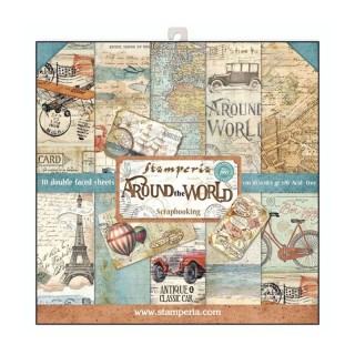 Stamperia 12x12 Inch Paper Pack Around the World