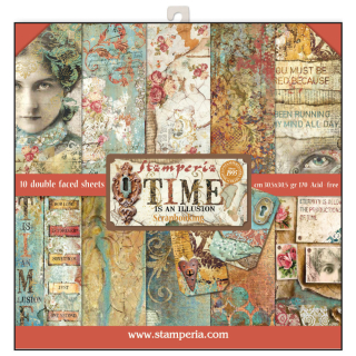 Stamperia 12x12 Inch Paper Pack Time is an Illusion