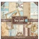 Stamperia 12x12 Inch Paper Pack Sea Land
