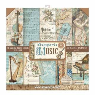Stamperia12x12 Inch Paper Pack Music