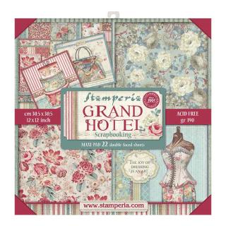 Stamperia 12x12 Inch Maxi Paper Pack Grand Hotel