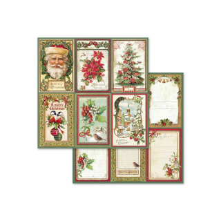 Stamperia 8x8 Inch Paper Pack Christmas Vintage