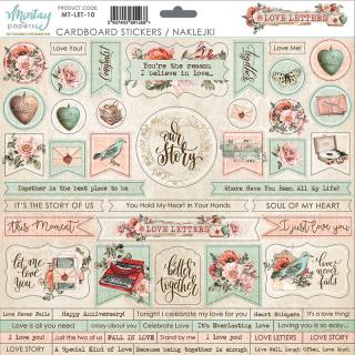 Mintay 12x12 Cardboard Stickers Love Letters