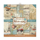Stamperia 8x8 Inch Paper Pack Around the World