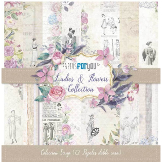 12x12 Inch Scrapbooking Paper Pack Ladies & Flowers