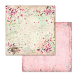 Stamperia 12x12 Inch Paper Pack  Flower Alphabet