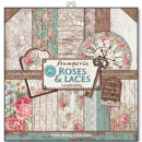 Stamperia 12x12 Inch Paper Pack Roses and Laces