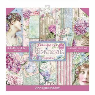 Stamperia 12x12 Inch Paper Pack  Hortensia