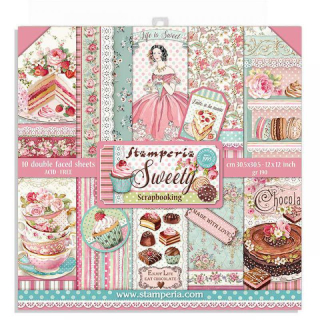 Stamperia 12x12 Inch Paper Pack Sweety