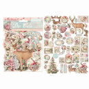 Stamperia Die-Cuts Pink Christmas