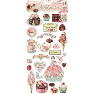 Stamperia Chipboard 15x30 cm Sweety