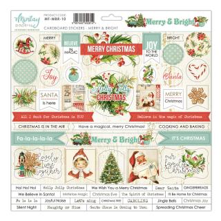 Mintay 12x12 Cardboard Stickers Merry & Bright