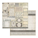 Stamperia 12x12 Inch Paper Pack Calligraphy