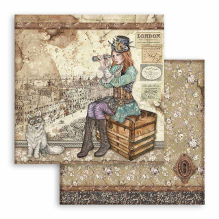 Stamperia 12x12 Inch Paper Pack Lady Vagabond
