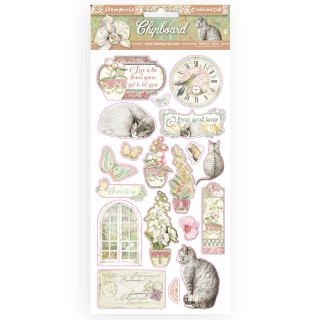 Stamperia Chipboard 15x30 cm Orchids and Cats