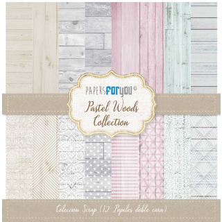12x12 Inch Scrapbooking Paper Pack Pastel Woods