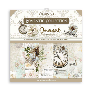Stamperia 12x12 Inch Paper Pac  Romantic Journal