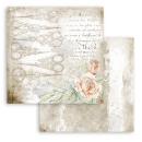Stamperia 12x12 Inch Paper Pac  Romantic Threads