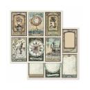 Stamperia 8x8 Inch Paper Pack Voyages Fantastiques