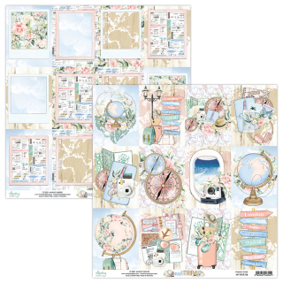 Mintay Papers 12x12 Blatt Next Trip Cards