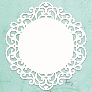 Mintay Chippies Chipboard Decor Fancy Circle