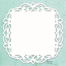 Mintay Chippies Chipboard Decor Fancy Square