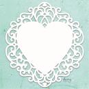Mintay Chippies Chipboard Decor Fancy Heart