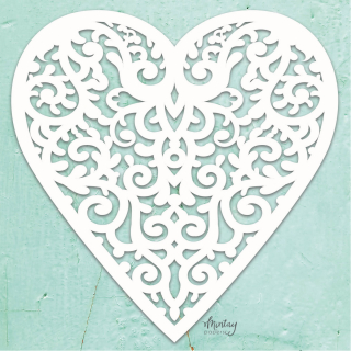 Mintay Chippies Decor Filigree Heart