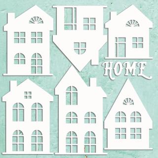 Mintay Chippies Decor Filigree Houses Set