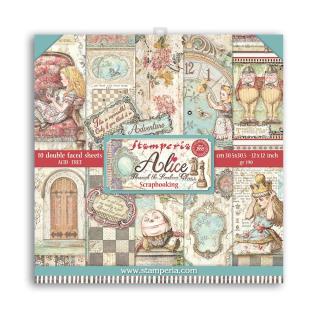 Stamperia 12x12 Inch Paper Pack Alice 2