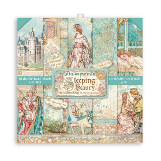 Stamperia 12x12 Inch Paper Pack Sleeping Beauty