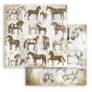 Stamperia 8x8 Inch Paper Pack Romantic Horses