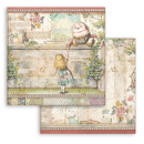 Stamperia 6x6 Inch Paper Pack Alice Through the Looking Glass