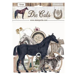 Stamperia Die-Cuts Romantic  Horses