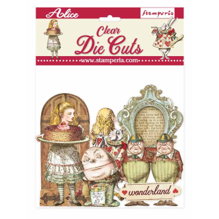 Stamperia Clear Die-Cuts Alice Through the Looking Glass