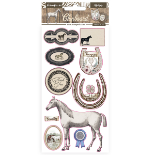 Stamperia Chipboard 15x30 cm Romantic Horses