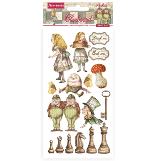 Stamperia Chipboard 15x30 cm Alice Through the Looking Glass