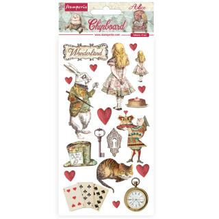 Stamperia Chipboard 15x30 cm Alice in Wonderland