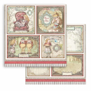 Stamperia 8x8 Inch Paper Pack Alice Through the Looking Glass