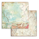 Stamperia 8x8 Inch Paper Pack Alice Backgrounds