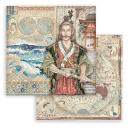 Stamperia 8x8 Inch Paper Pack Sir Vagabond in Japan