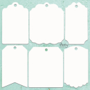 Mintay Chippies Decor Tags
