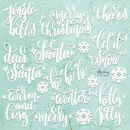 Mintay Chippies Decor Christmas Words