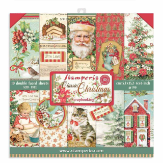 Stamperia 6x6 Inch Paper Pack Classic Christmas
